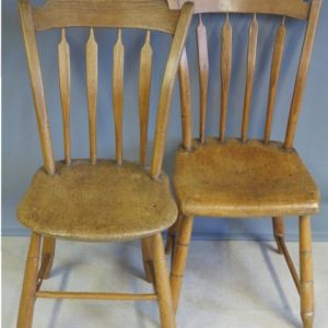 A PAIR OF CORNISH COMB BACK CHAIRS