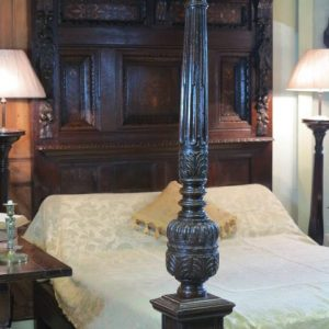 A 17TH CENTURY FOUR POSTER BED