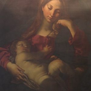 A 19TH CENTURY MADONNA AND CHILD OIL