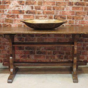 A 19TH CENTURY TRESTLE TABLE