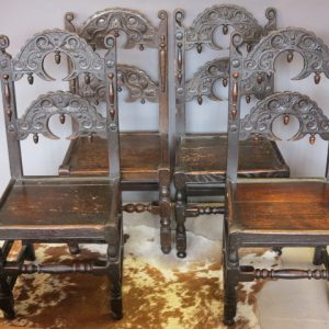 A SET OF FOUR DERBYSHIRE CHAIRS
