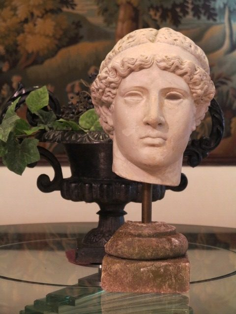 PLASTER CAST BUST OF HERA