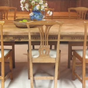 LARGE TABLE AND EIGHT CHAIRS