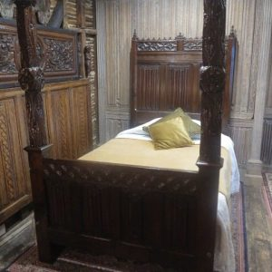A 16TH CENTURY GOTHIC BED