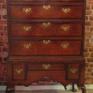A 17TH CENTURY CHEST ON STAND