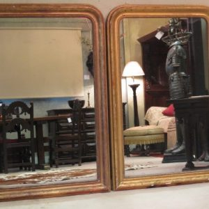 A PAIR OF 19TH CENTURY MIRRORS