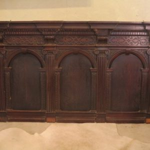 A 19TH CENTURY OVERMANTLE