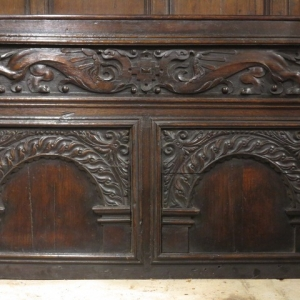 AN 18TH CENTURY OVERMANTLE