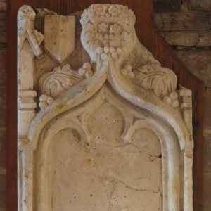 A 19TH CENTURY PLASTER CARVED FRAGMENT