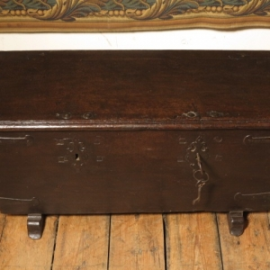 A 17TH CENTURY STRONG BOX