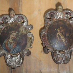 A DECORATIVE PAIR OF ITALIAN OILS