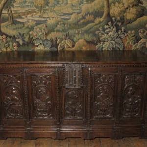 A LARGE 16TH CENTURY COFFER