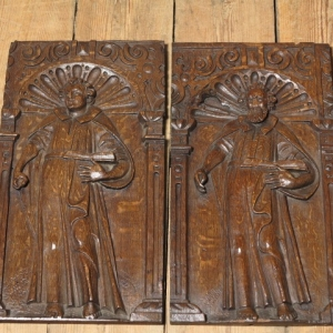 17th CENTURY CARVED PANELS