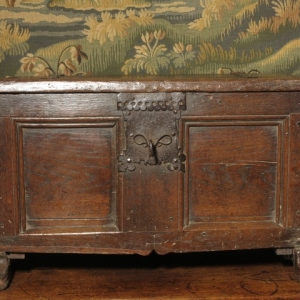 A 17TH CENTURY CONTINENTAL COFFER